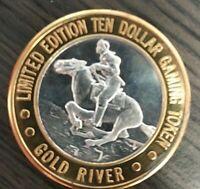 .999 Silver Gold River NV. Casino $10 Token