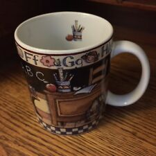 Teacher Xmas Gift Mug Lang Wise Susan Winget All Checked Out Coffee Cup 1998