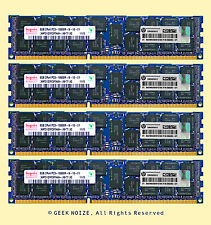HP Server RAM 32G 4x 8GB PC3-10600R ECC REG DDR3 1333 2Rx4 1.5v RDIMM Memory LOT