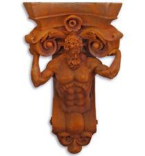 Ruggine-ottica, stile antico CONSOLE MURO personaggio, atlanti personaggio, Atlas come travi cielo