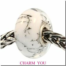 AUTHENTIC TROLLBEADS 61303 White Steel