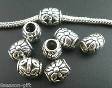 150 Silver Tone Flower Spacers Beads Fit Charm Bracelet