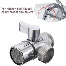 Polished Chrome Brass Sink Valve Diverter Faucet Splitter for Kitchen M22 X M24