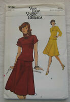 Vintage Top & Skirt Sewing Pattern*Vogue 9154*Size 10*UNCUT/FF*flared fall