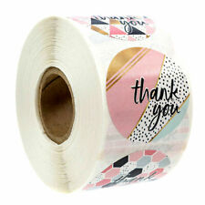 500 Pcs /Roll 8-Design Thank you Stickers Wedding Baking Handmade Adhesive Label