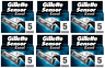 NEW Gillette Sensor Excel Refill Razor Blades - 30 Cartridges (6 x 5 Packs)