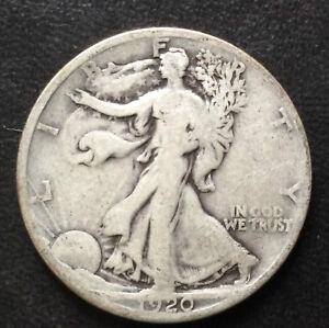 1920-S Liberty Walking Half Dollar Silver U.S. Coin A4171