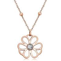 BROSWAY, Halskette*Ikebana*Anhänger Blume Rosen 'Und Herg (BKE04), Neu
