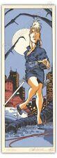 Ex-libris Sérigraphie Crisse Perdita Queen 250ex signé 9,2x24,6 cm marque-page