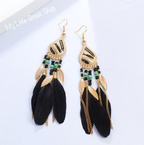 BRAND NEW Boho Feather Earrings