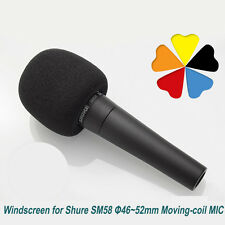 Foam Windscreen for Shure SM58 Moving-Coil Microphone Φ46~52mm MIC Superlux S40