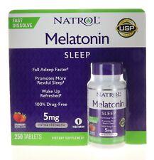Natrol Melatonin 5 mg - 250 Fast Dissolve Strawberry Flavor Tablets