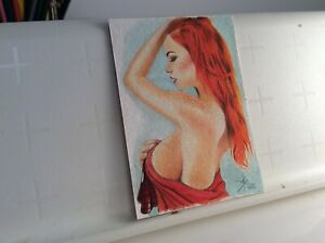 MARY JANE SPIDERMAN ORIGINAL HAND MADE DRAWING SKETCH CARD VARIANT VERS° ACEO