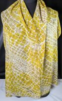 "Lovely Vintage Olive Green Colour Pure Silk Scarf by Jaeger 63"" x 18"""
