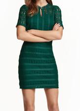 Encaje Vestido Verde Talla EUR 42 UK 14 RRP £ 29.99 DH099 CC 09