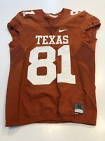 GAME WORN USED TEXAS LONGHORNS FOOTBALL JERSEY SIZE 40 #81