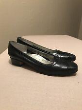 Ros Hommerson Women's Classic Pumps Black Leather Shoes Size 8 M