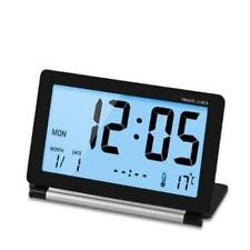 Mini Foldable Travel Alarm Clock With Temperature/Date/Calendar/Snooze For Offic