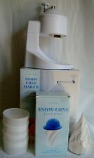 Williams Sonoma Snow Cone Maker Cups Straws Snowcone Shave Ice Crusher
