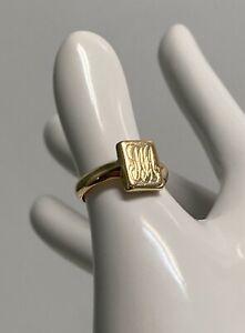 "18ct Yellow Gold Rectangular Signet Ring, Size ""G"", 3.6g, Value $850, 30256"
