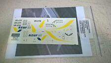 Boeing 737-800 AZUR Air  decal 1144 for Revell