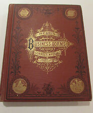 Hill's Business Forms & Guide To Correct Writing, Thos. Hill - 1875 Antique Book