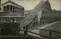 Shamoin PA Edgewood Park Scenic Railway Roller Coaster c1910 Postcard