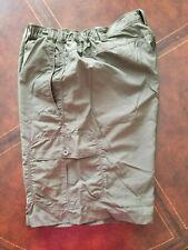 euc The North Face sz xl green cargo shorts elastic waist