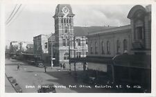 MASTERTON NEW ZEALAND QUEEN STREET POST OFFICE OLD REAL PHOTO POSTCARD VIEW