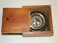 Vintage Nautical Wilcox Crittenden Co. Inc. Compass w/Box