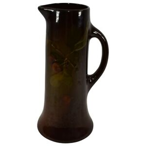 Roseville Pottery Rozane Cherries And Leaves Tall Tankard Pitcher 921-11