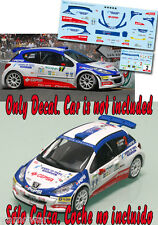 Decal 1:43 Luis Monzon - PEUGEOT 207 S2000 - Winner Rally Canarias 2008