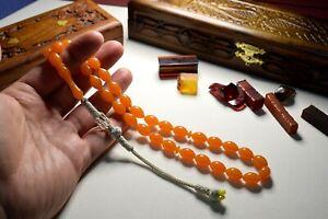 Great - 100% Original - Amber Bakelite Prayer Beads Muslim Tesbih Rosary