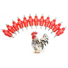 50 x Water Cups Nipple Chicken Drinkers Waterer 360 Angle Poultry Supplies hot!