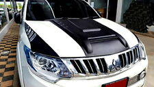 MATT BLACK RAPTOR HOOD SCOOP BONNET COVER MITSUBISHI L200 ANIMAL TRITON 15 16 17