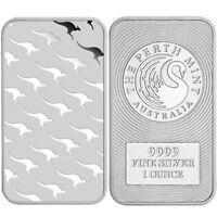 Lingot 1 Once argent pur 9999 / 1 Kangaroo PERTH MINT 1 Oz Fine Silver Bar 9999