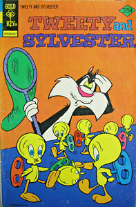 Tweety and Sylvester 59 Gold Key Comics Bronze Age 1976 FN+ Cartoon