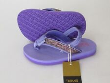 a66cb19cd104 Teva Mush® II Toddler Girls Purple Elastic Sligback Glitter Flip-Flops  Sandals 6