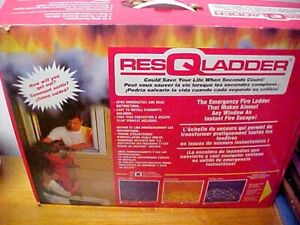 RESQLADDER FIRE ESCAPE LADDER 25 ft Series 1000 3 Story Emergency~Stored unused
