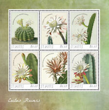 SAINT KITTS 2014 - CACTUS FLOWER SHEET OF 6 STAMPS MNH