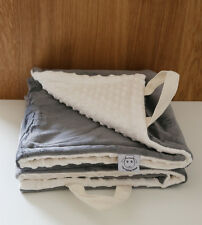 * Sale * Limited time Minky Baby Play Mat Tummy Time Grey Cream Shower Gift
