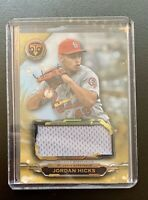 2019 Topps Triple Threads JORDAN HICKS Gold Parallel Jersey Patch Relic SP /9