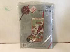 Candamar Something Special Santa & Toys Christmas Needlepoint Stocking Kit 30641