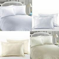 Luxury Hotel Quality Striped 100% Egyptian Cotton Sateen Satin Duvet Cover Set