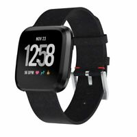 Woven Fabric Replacement Wristband Strap Watch Band For Fitbit Versa 2/1 Black