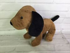 Manhattan Toy Company Pooch Party Sniffy Hound Dog Brown Black Ears Plush 2015