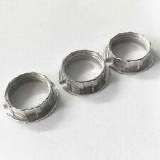 3er Set Gewindering Schraubring Metallring für G9 Fassung Glas Schirm Ring