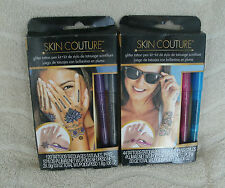 Skin Couture Set Of 2 Glitter Pen Tattoo Kits With 164 Tattoos ~ NEW