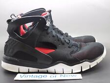 Men's Nike Huarache 2012 Black Sport Red Black Basketball 488054-061 sz 11.5