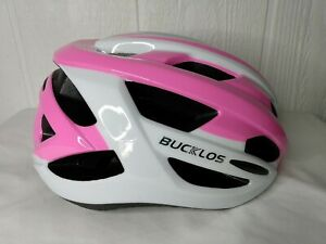 BUCKLOS Adult Women's Road Bicycle Adjustable Helmets Protective Cycling Pink L
